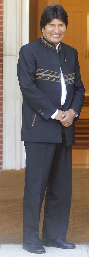 Evo Morales, en La Moncloa, en septiembre de 2009.