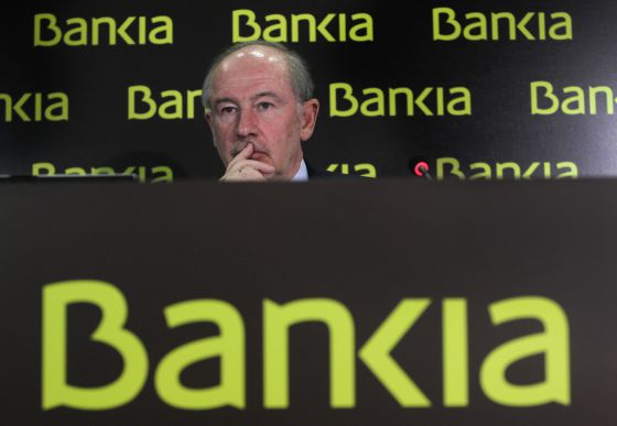 Rodrigo Rato during a Bankia shareholders meeting last February.