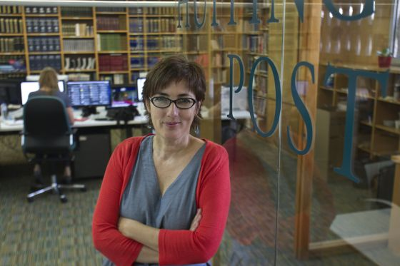 Journalist Montserrat Domínguez, pictured in the Spanish offices of the Huffington Post.