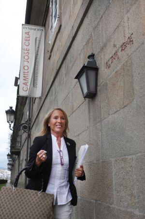 Marina Castaño, en la Fundación Camilo José Cela en Iria Flavia, en Padrón (A Coruña), en mayo de 2010.