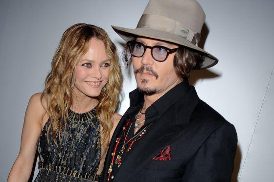 Vanessa Paradis y Johnny Depp.