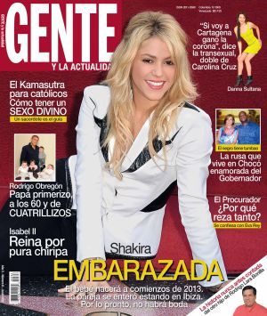 Portada de la revista colombiana 'Gente', de junio de 2012