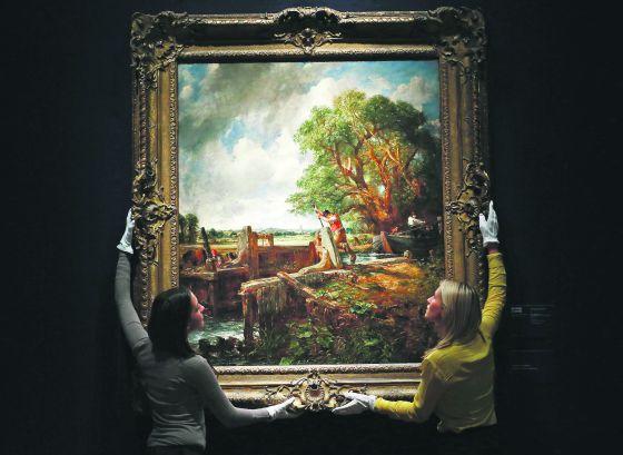 """'La esclusa', pintada por John Constable en 1824, es una de las obras esenciales de la colección de Carmen Cervera que va a vender por """"falta de liquidez"""". Se subastará en Christie's el próximo 3 de julio. Su precio de salida es de 30,7 millones de euros."""