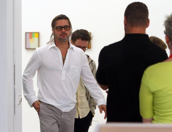 Brad Pitt, durante su visita a la Feria Documenta