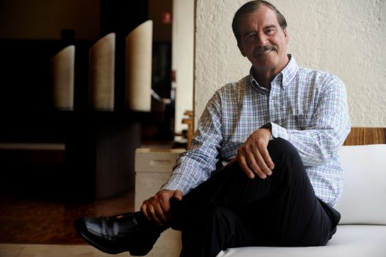 Former President Vicente Fox at his home.