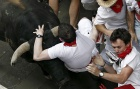 Flying bull causes chaos but few injuries at San Fermín Festival
