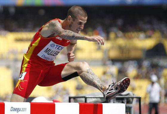 Ángel Mullera taking part in last year's World Championships in Daegu.