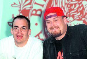 Los hermanos Wachowski, Larry (a la izquierda, antes de su cambio de sexo) y Andy, en 1996.