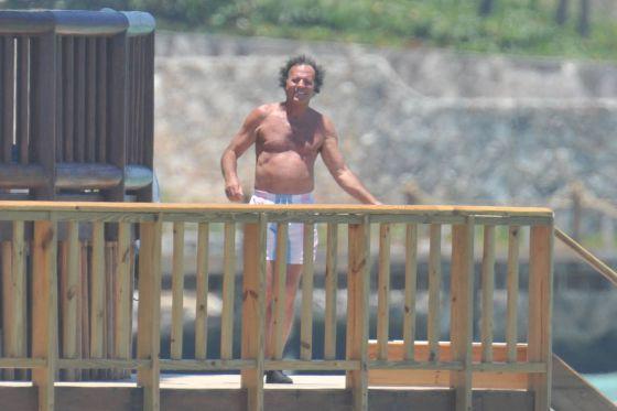 Julio Iglesias, durante unas vacaciones.