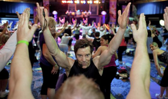 Tony Horton en un entrenamiento en Wallingford, Connecticut