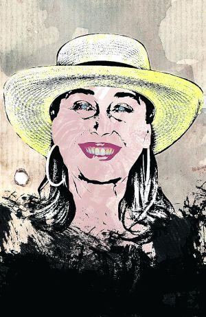 Ilustración de la actriz Verónica Forqué.