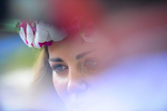 Catalina Middleton, ayer en las islas Salomón.