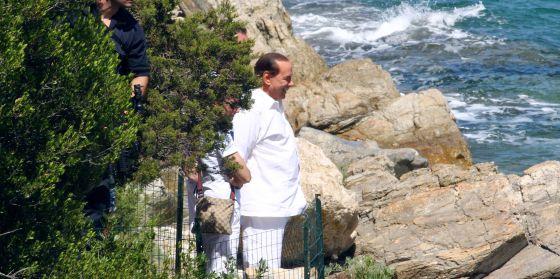 Silvio Berlusconi, en Villa Certosa.