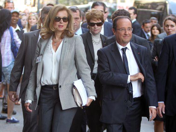 Valérie Trierweiler y su pareja, el presidente de Francia, François Hollande, en Nueva York en septiembre pasado.