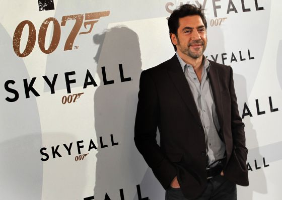 Javier Bardem during the presentation of 'Skyfall' in Madrid on Monday.