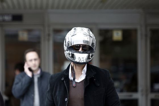 Carlos Manzanares Rodríguez leaves a Madrid court on Wednesday.