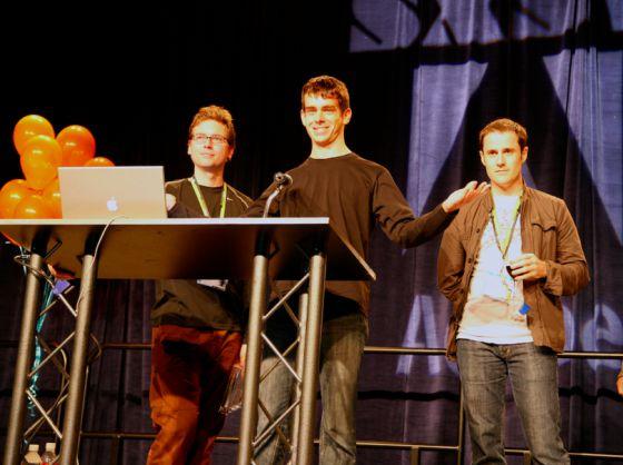Los fundadores de Twitter, Biz Stone, Jack Dorsey y Evan Williams.