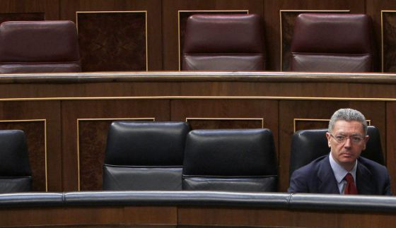 Justice Minister Alberto Ruiz-Gallardón in Congress this week.