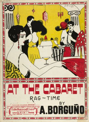 'At the cabaret: Rag Time'. Madrid, 1919.