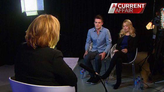 Michael Christian y Mel Craig, entrevistados en Channel 9.