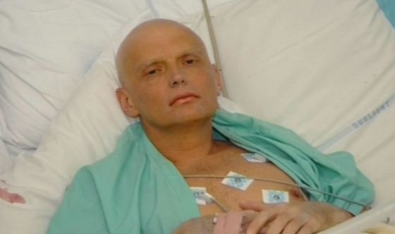 Alexander Litvinenko in the London hospital where he eventually died.