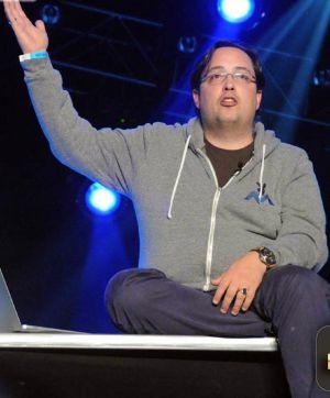 Fabian Thylmann, durante una de sus escasísimas apariciones públicas, en una conferencia en la feria Internext, en Las Vegas, en enero.