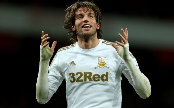 Swansea's Michu is the joint top-scorer in the Premier League.