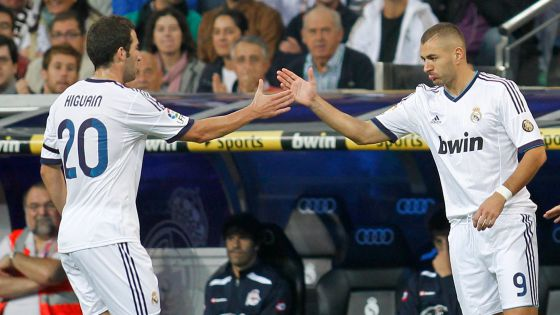 Gonzalo Higuaín (left) and Karim Benzema, two of La Liga's expensive foreign imports.