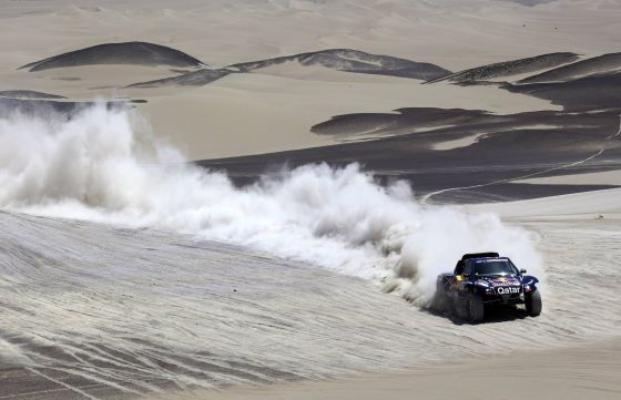 Qatar Red Bull driver Carlos Sainz during Monday's stage.
