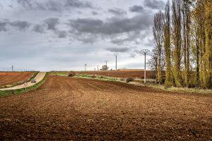 Una carretera comarcal de Segovia.