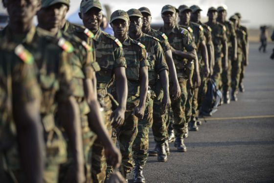 Togolese soldiers arrived in the Malian capital Bamako on January 17, as part of more than 3,000 soldiers pledged by African nations to back the French-led offensive.