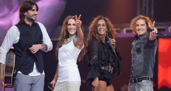 Melendi, Malú, Rosario y Bisbal en el programa.