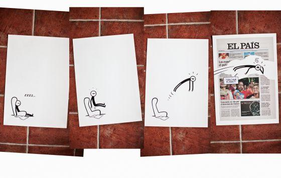 Fotomontaje del trabajo de Francesc Capdevila 'Max' para EL PAÍS en la Feria Internacional de Arte Contemporáneo, ARCO.