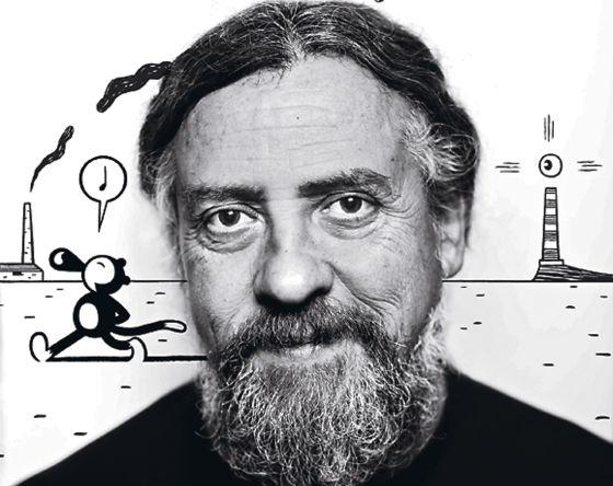 El dibujante Max, retratado en su casa de Mallorca.