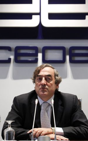 Juan Rosell, president of the CEOE.