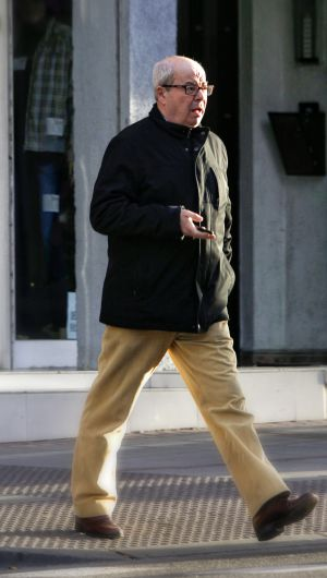 Emilio Hellín Moro, now 63 and calling himself Luis Enrique, seen walking in the Madrid neighborhood of San Isidro last week.