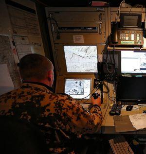 Los 'drones' se dirigen desde un centro de control, como este del Ejército alemán en Afganistán.
