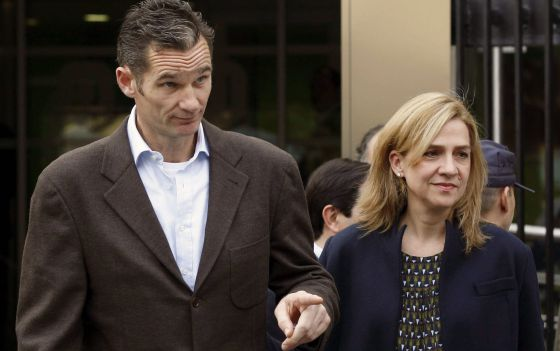 File photo of Princess Cristina and Iñaki Urdangarin taken in November 2012.