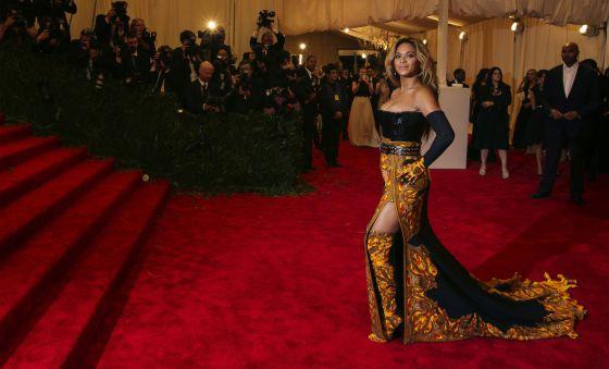La cantante Beyonce a su llegada al Museo Metropolitano de Nueva York.