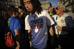Spain's 'indignants' protesters returned to the Puerta del Sol on Sunday.
