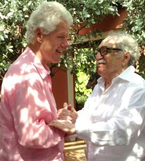 El encuentro entre Bill Clinton y García-Márquez.