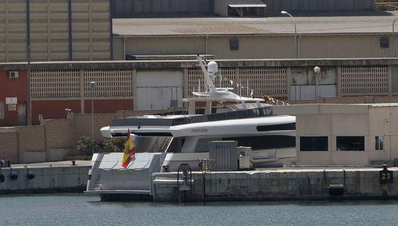 King Juan Carlos's yacht in Palma de Mallorca.