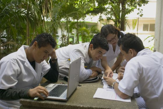 Students from Veracruz University, the third-biggest in Mexico.