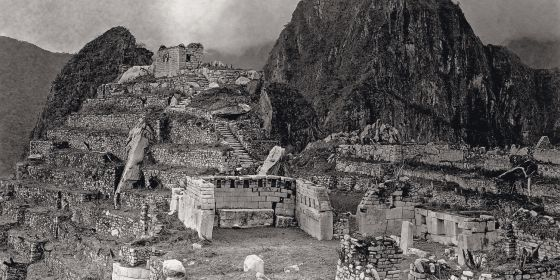 La ciudad inca de Machu Picchu.