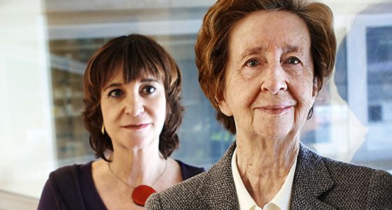 La escritora Rosa Montero y la científica Margarita Salas.