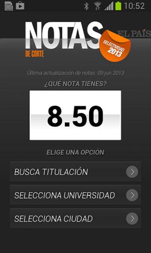 Captura de la app para Android.