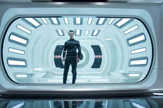 Benedict Cumberbatch in a scene from the new Star Trek movie.