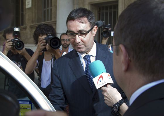 Diego Torres after testifying in the Nóos case in Palma last week.