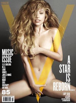 Lada Gaga al desnudo en la portada de la revista