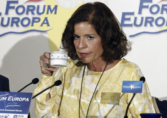 Madrid Mayor Ana Botella, who announced on Thursday that the city would not bid for the 2024 Olympic Games.